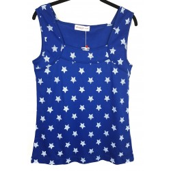 Sheego toppi sininen tähti
