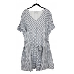 Junarose raidallinen mekko 2-laatu